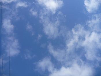 青空からチラチラ